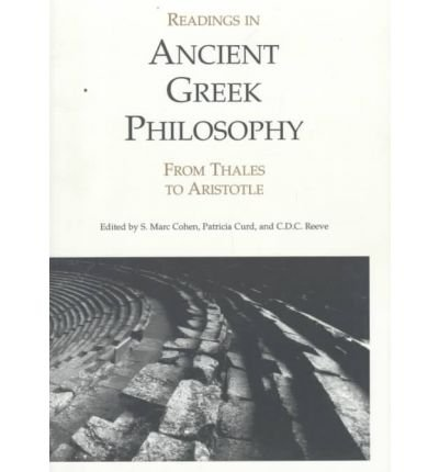 Readings in Ancient Greek Philosophy From Thales to Aristotle  1995 edition cover