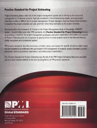 Practice Standard for Project Estimating   2010 edition cover