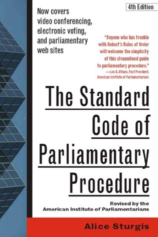 Standard Code of Parliamentary Procedure  4th 2001 (Revised) 9780071365130 Front Cover