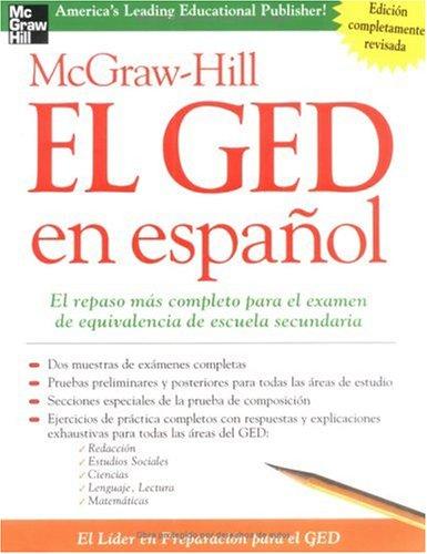 McGraw-Hill el GED en Espanol   2004 edition cover