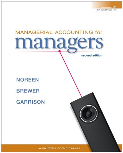 Managerial Accounting for Managers  2nd 2011 edition cover