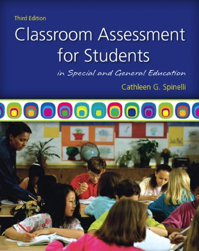 Classroom Assessment for Students in Special and General Education  3rd 2012 edition cover
