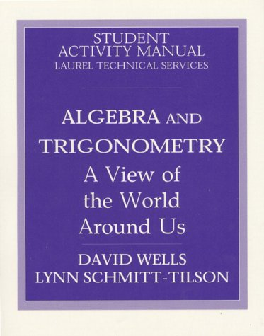 Algebra and Trigonometry Student Manual, Study Guide, etc.  9780137191130 Front Cover