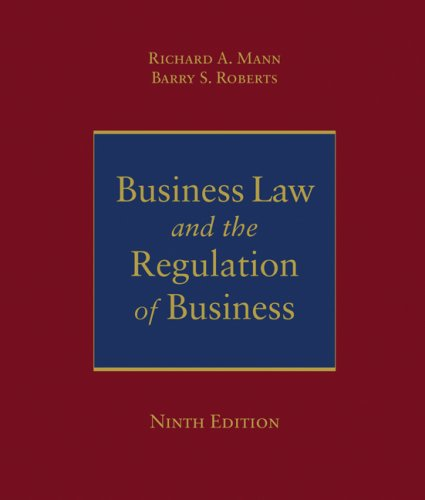 Business Law and the Regulation of Business  9th 2008 (Revised) edition cover