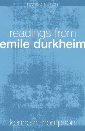 Readings from Emile Durkheim  2nd 2004 (Revised) edition cover