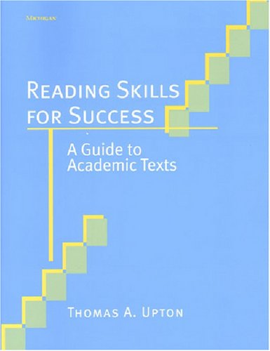 Reading Skills for Success A Guide to Academic Texts  2003 9780472089130 Front Cover