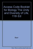 BIOLOGY:UNITY+DIV.OF LIFE:ACCE 11th 2006 9780495130130 Front Cover
