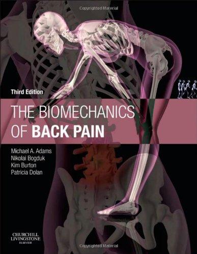 Biomechanics of Back Pain  3rd 2012 edition cover