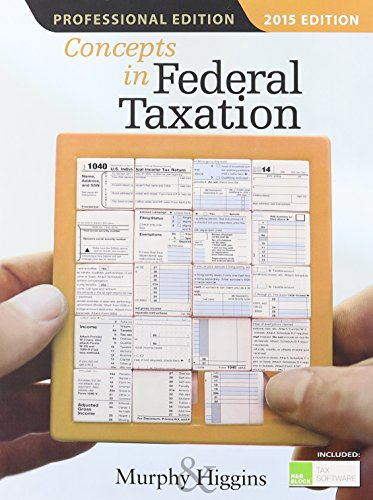Concepts in Federal Taxation 2015 + H&r Block at Home Cd-rom:   2014 edition cover