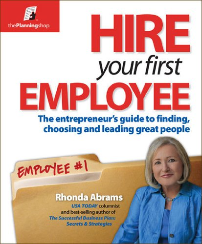 Hire Your First Employee  N/A edition cover