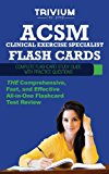 ACSM Clinical Exercise Specialist Flash Cards Complete Flash Card Study Guide with Practice Test Questions N/A 9781940978130 Front Cover