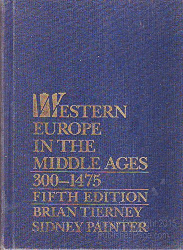 Western Europe in the Middle Ages, 300-1475 300-1475 5th 1992 edition cover
