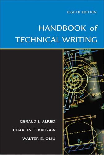 Handbook of Technical Writing  8th 2005 edition cover