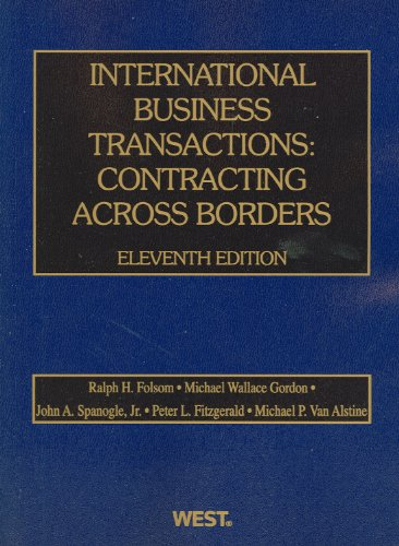 International Business Transactions Contracting Across Borders 11th 2012 (Revised) edition cover