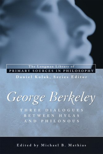 George Berkeley Three Dialogues Between Hylas and Philonous  2007 edition cover