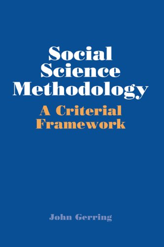 Social Science Methodology A Criterial Framework  2001 edition cover