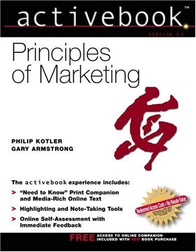 Principles of Marketing, Activebook 2.0 N/A edition cover