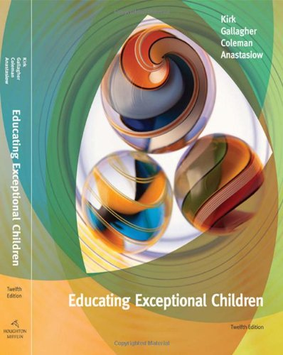Educating Exceptional Children  12th 2009 edition cover