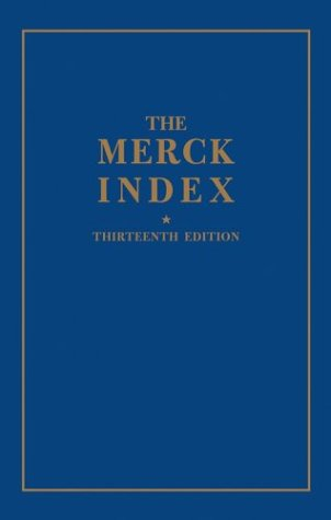 Merck Index An Encyclopedia of Chemicals, Drugs, and Biologicals 13th 2001 edition cover