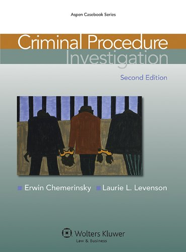 Criminal Procedure: Investigation  2013 edition cover
