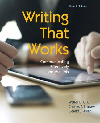 Writing That Works Communicating Effectively on the Job 11th 2013 9781457611131 Front Cover