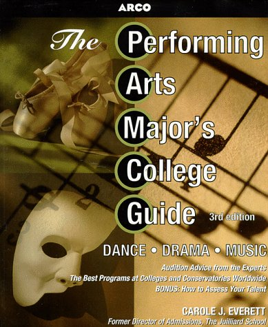 Performing Arts Major's College Guide  3rd 1998 edition cover