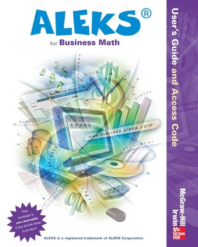 Aleks� for Business Math   2006 edition cover