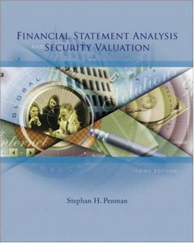 Financial Statement Analysis and Security Valuation  3rd 2007 (Revised) edition cover