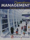 Operations Management: Processes and Supply Chains  2015 edition cover