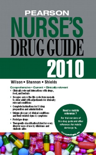 Pearson Nurse's Drug Guide 2010   2010 9780135076132 Front Cover