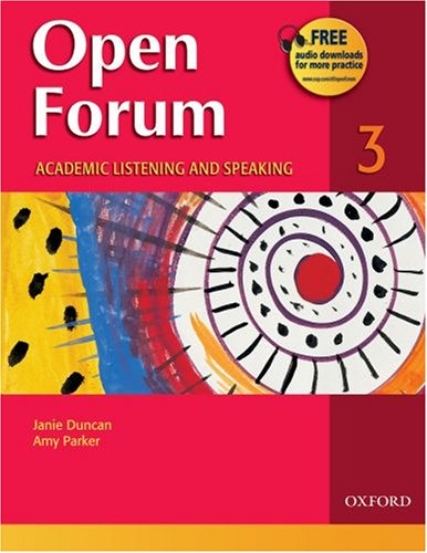 Open Forum 3 Academic Listening and Speaking  2007 edition cover