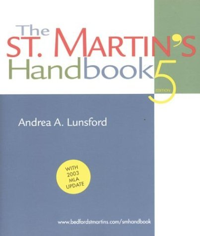 St. Martin's Handbook : 2003 MLA Update 5th 2003 9780312413132 Front Cover