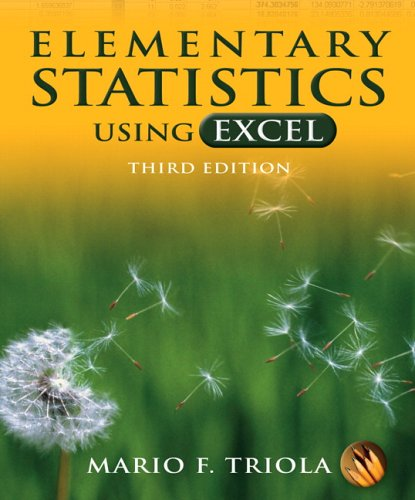 Elementary Statistics Using Excel  3rd 2007 (Revised) edition cover