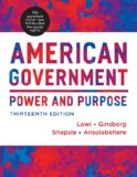 American Government Power and Purpose 13th edition cover