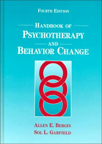 Handbook of Psychotherapy and Behavior Change  4th 1994 9780471545132 Front Cover