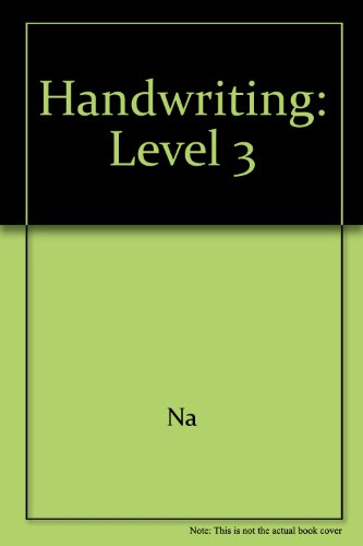 Zaner-Bloser Handwriting 2003 : A Way to Self-Expression, Grade 3  2003 (Student Manual, Study Guide, etc.) edition cover