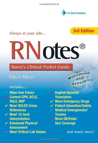 RNotes� - Nurse's Clinical Pocket Guide  3rd 2010 (Revised) edition cover