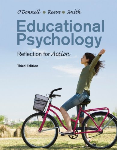 Educational Psychology Reflection for Action 3rd 2012 edition cover