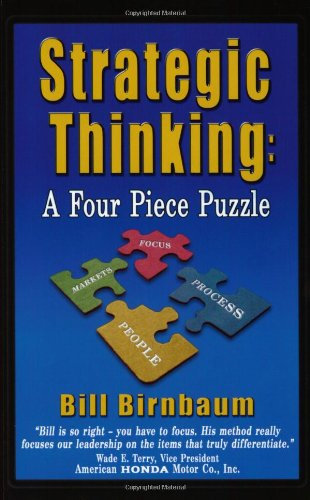 Strategic Thinking A Four Piece Puzzle  2004 edition cover