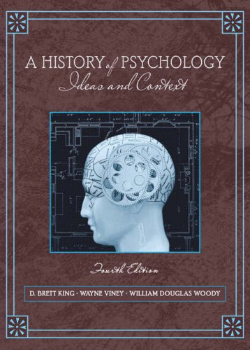 History of Psychology Ideas and Context 4th 2009 edition cover