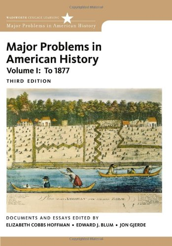 Major Problems in American History  3rd 2012 edition cover