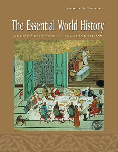 Essential World History - To 1800  2nd 2005 (Revised) 9780534627133 Front Cover