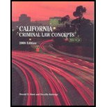CALIFORNIA CRIMINAL LAW CONCEP N/A 9780536540133 Front Cover