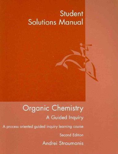Organic Chemistry A Guided Inquiry 2nd 2009 edition cover