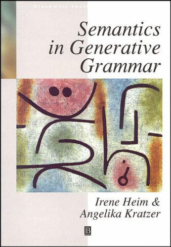 Semantics in Generative Grammar   1997 edition cover