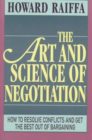 Art and Science of Negotiation   1982 edition cover