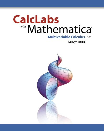 CalcLabs with Mathematica for Multivariable Calculus  5th 2012 edition cover