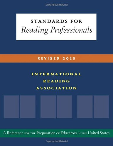 Standards for Reading Professionals-- Revised 2010  2010 edition cover