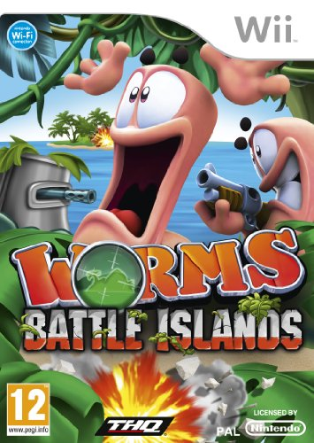 Worms Battle Islands (Wii) by THQ Nintendo Wii artwork
