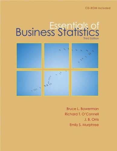 Essentials of Business Statistics with Student CD  3rd 2010 9780077323134 Front Cover
